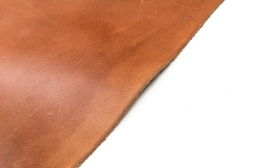 Tanned leather dyed in brown color Wall mural