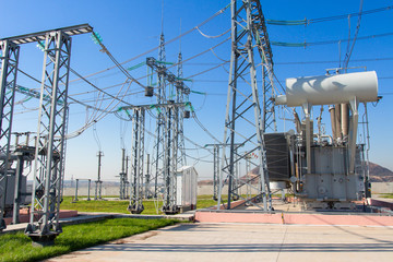 High voltage equipment on power electric station