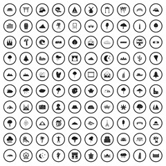 100 view icons set in simple style for any design vector illustration