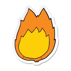 sticker of a cartoon flames