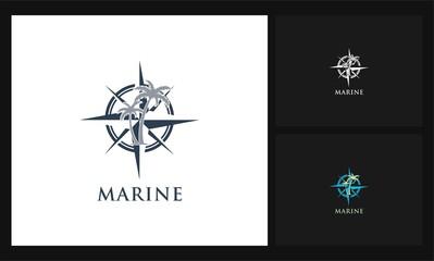 compass and palm marine logo