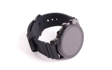 Black smartwatch isolated