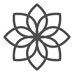 Lotus line icon. Flower vector illustration isolated on white. Floral outline style design, designed for web and app. Eps 10.