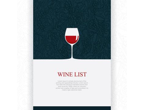 wine design. Wine design vector illustration. Wine theme cover design for brochures, posters, invitation cards, promotion banners, menus