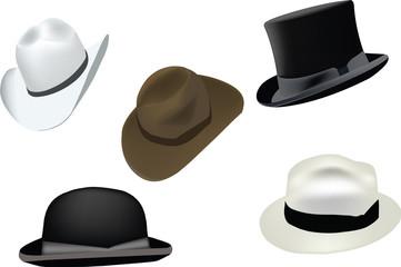 vari cappelli di ogni tipo e classe d'uso