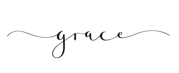 GRACE brush calligraphy banner