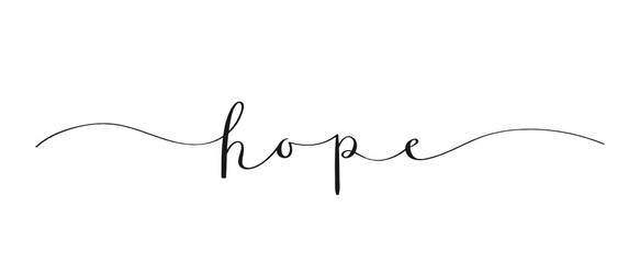 HOPE brush calligraphy banner