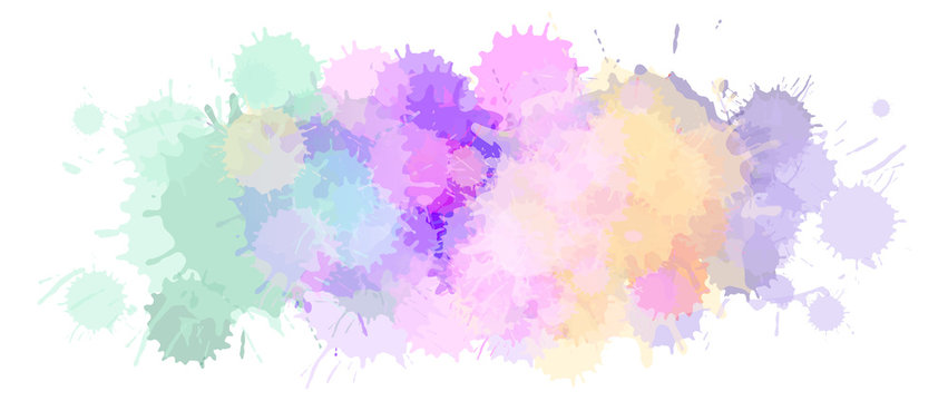 Watercolor Astract Vector Background or Aquarelle Texture