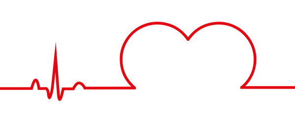 Minimalist Line Heart Drawing - Continuous Line Art