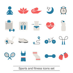 Fitness and sport icons collection