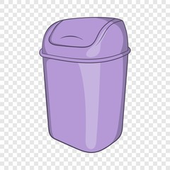 Toilet trash icon in cartoon style isolated on background for any web design