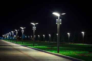 public Park infrastructure, night lighting Fototapete