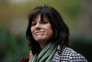 Britain's Minister of State for Energy and Clean Growth Claire Perry is seen outside of Downing Street in London