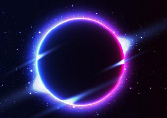 solar eclipse Night sky constellations.star.vector