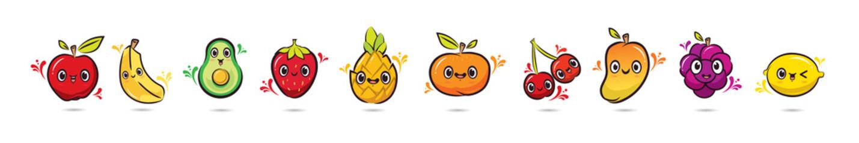 Cute face cartoon Fruits characters