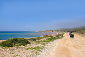 Akamas Peninsula National Park in spring, off road route, Cyprus