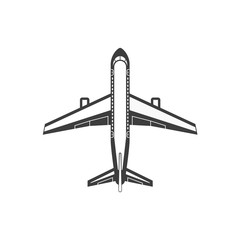 Airplane simple icon.