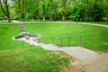 spring in a park near Bad Homburg Germany