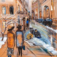 City in December