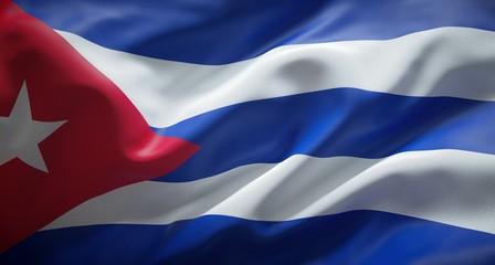Bandera oficial de la República de Cuba.