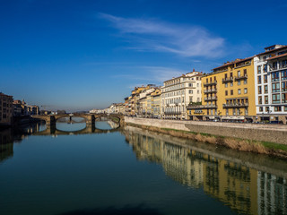 Florence with the Arno River and the Ponte Vechio