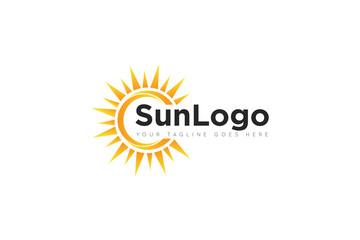 sun logo and icon Vector design Template. Vector Illustrator Eps.10