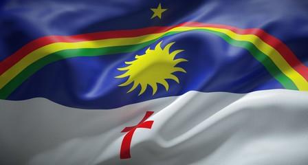 Bandeira oficial de Pernambuco, Brasil.