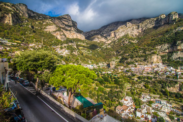 Beautiful coastal towns of Italy scenic Positano in Amalfi coast