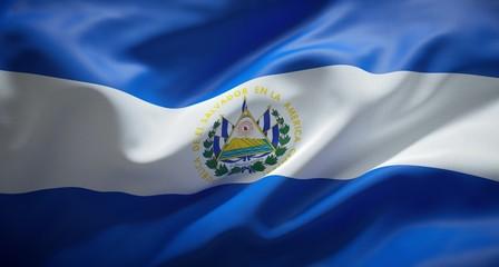 Bandera oficial de la República de El Salvador