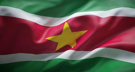 Bandera oficial de la República de Surinam.