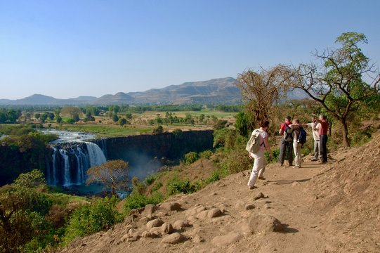 Walk near Bahir Dar where the Blue Nile river falls into lake Tana.
