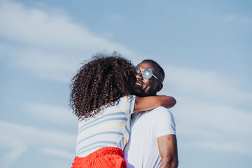 Afro young couple having romantic moments