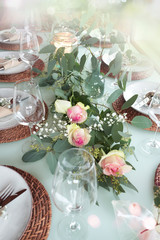 Romantic decorated table