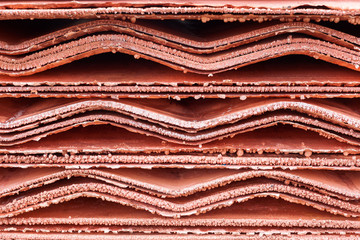 Close up detail of Copper Cathodes