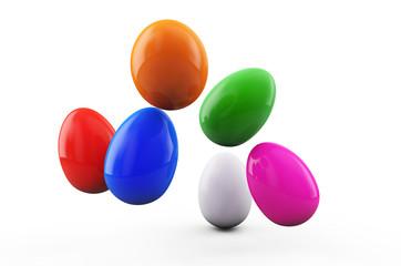 Colorful Easter eggs. 3d render