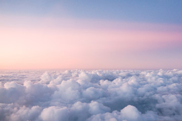 Cloud view from Aeroplane during sunset or sunrise. Wall mural