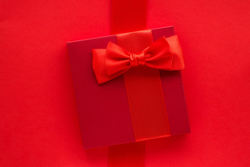 Luxury holiday gifts on red