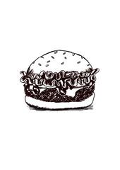 Burger Zeichnung
