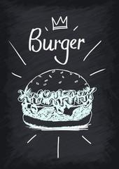 Burger Chalkboard