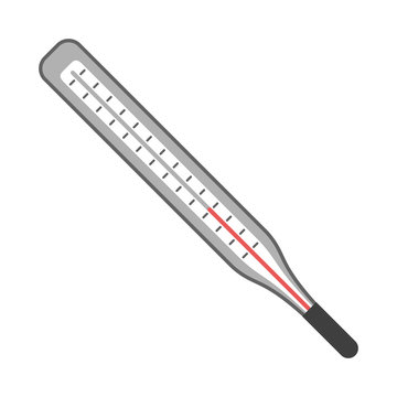 medical thermometer symbol isolated