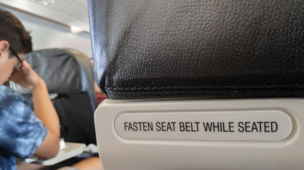 Fasten the seat belt sign