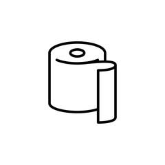 Toilet paper icon. Bathroom sign