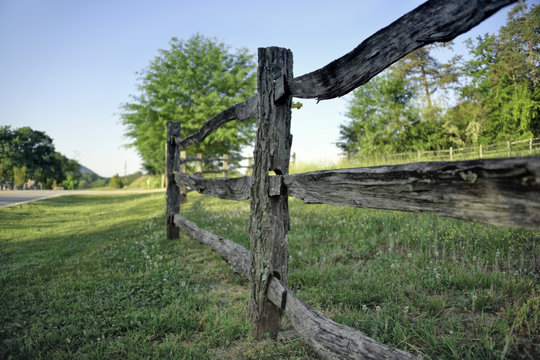 """""""18th Century Fence"""" very old milled locust posts and split rails in the Blue Ridge Mountains Zen Duder Americana Fences Collection"""