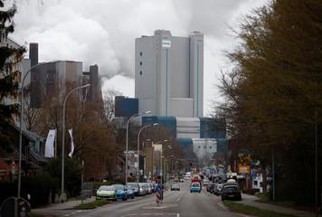 Lignite-fired Niederaussem Power Station of RWE, one of Europe's biggest utilities in Niederaussem, near Cologne