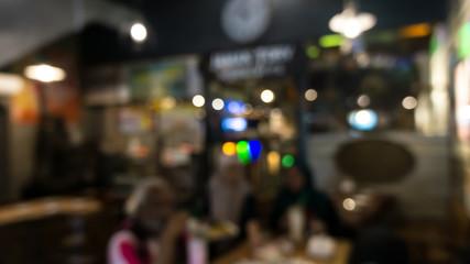 Blurr image of a restaurant environment