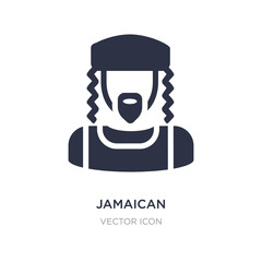 jamaican icon on white background. Simple element illustration from UI concept.