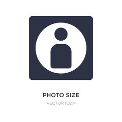 photo size icon on white background. Simple element illustration from UI concept.