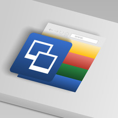 two layers icon. From collection button icons
