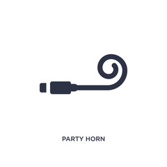 party horn icon on white background. Simple element illustration from birthday party and wedding concept.