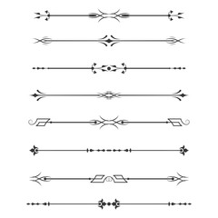 Set of calligraphic design elements- dividers,Thin line decoration objects